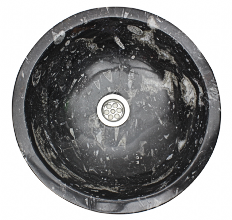 Moroccan Sink  Washbasin Wash Basin Fossilised Marble Stone. With Free Waste.  40cm  15.7'' (SW643)